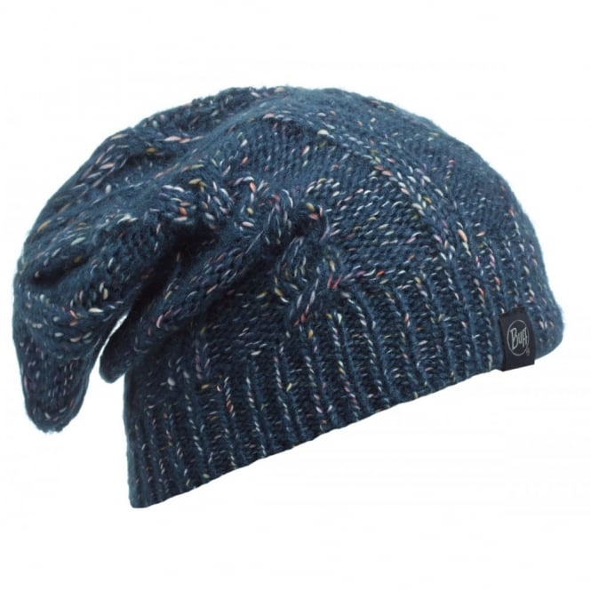 Buff Gymmer Hat Denim, Slouchy fit knitted hat