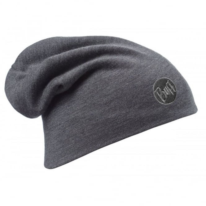 Buff Merino Wool Slouchy Thermal Polar Fleece Hat Grey, ideal for out door activities or to protect from extreme cold weather