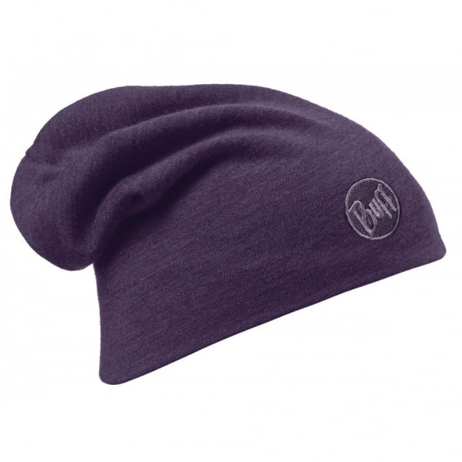 Buff Merino Wool Loose Fit Thermal Hat Plum, ideal for out door activities or to protect from extreme cold weather