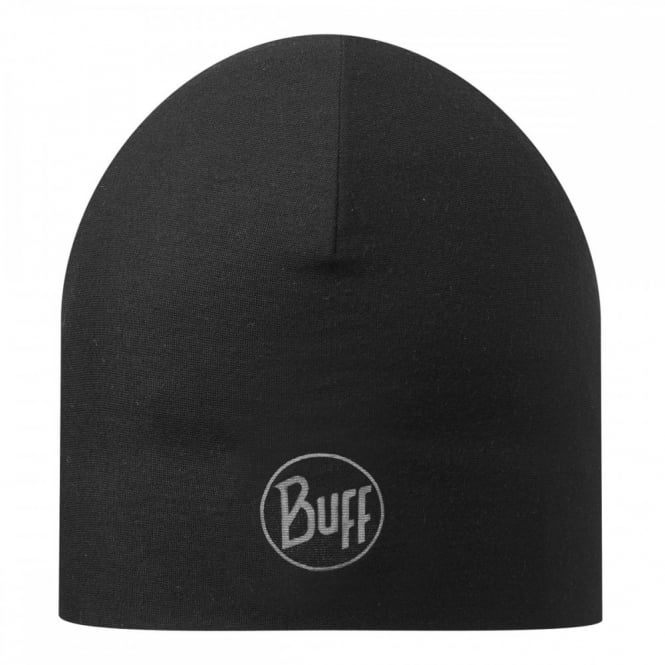 Buff Reversible Microfiber Hat Black, ideal for outdoor activities or a base layer to protect from the cold