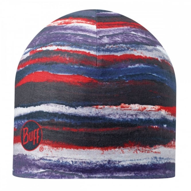 Buff Microfiber Polar Hat Flat Brush Multi, warm and soft, ideal for winter activities