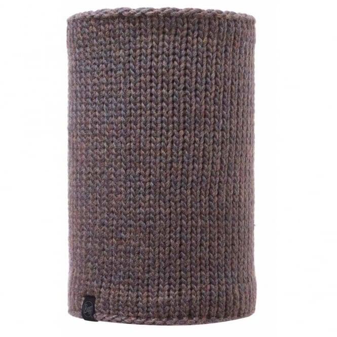 Buff Neckwarmer Polar Reversible Lila Brown/Melange Grey, chunky knitted neckwarmer