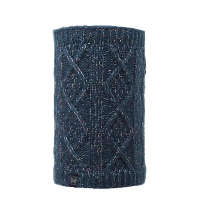 Buff Neckwarmer Polar Reversible Gymmer Denim/Melange Grey, chunky knitted neackwarmer