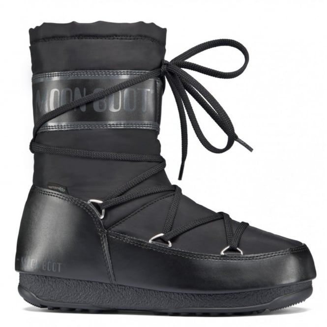 MoonBoot Moon Boots Soft Shade MID Black, Waterproof Iconic Boot