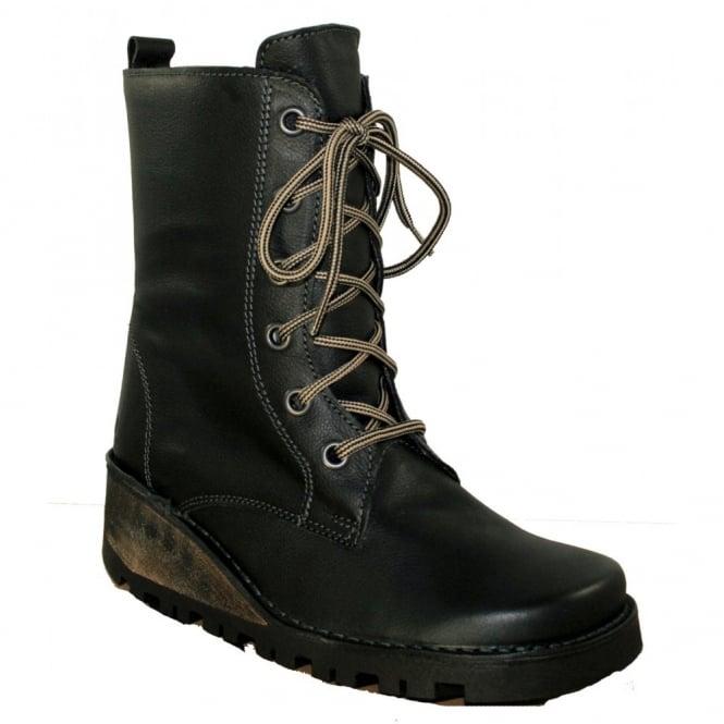 Oxygen Nene Black, Lace up Boot