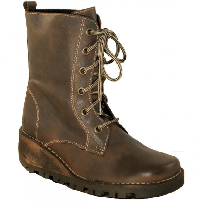 Oxygen Nene Brown, Lace up Boot
