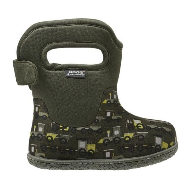 Bogs 718661 Infant Classic Choo Choo Dark Green, 100% waterproof wellington boots with snuggly warm lining