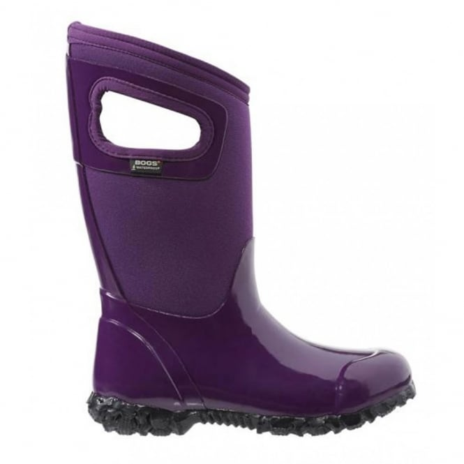 Bogs 71844 North Hampton Purple, 100% waterproof wellington keeping you dry with every stomp!