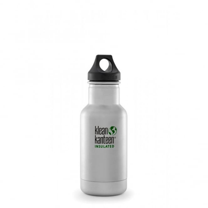Klean Kanteen 355ml Classic Insulated Brushed Stainless Steel, Water Bottle great for on the move