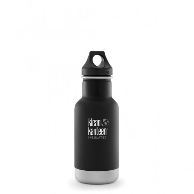 Klean Kanteen 355ml Classic Insulated Matte Shale Black, Water Bottle great for on the move