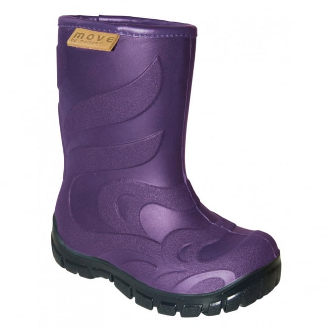 MOVE Thermo Boots Purple, Warm lined lightweight kids boot