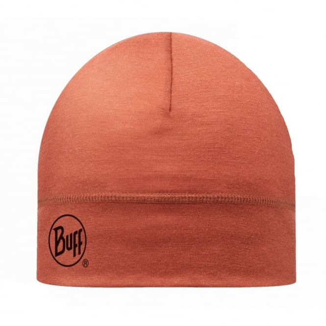 Buff Single Layer Merino Wool Hat Rooibos Tea, ideal for outdoor activity or a perfect base layer to protect from the cold