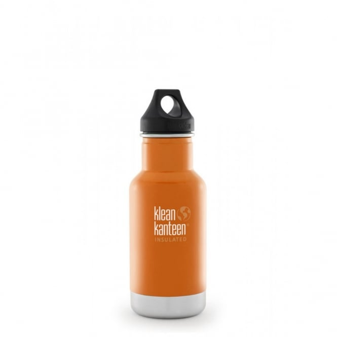 Klean Kanteen 355ml Classic Insulated Canyon Orange, Water Bottle great for on the move