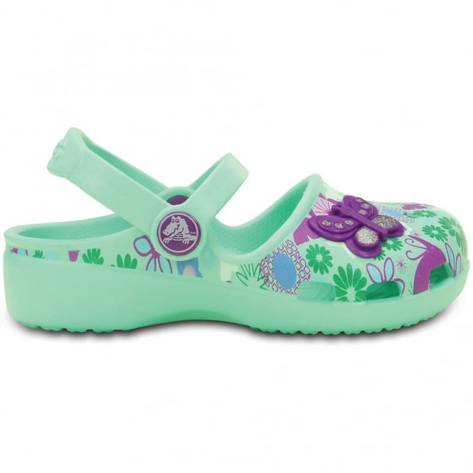 Crocs Karin Butterfly Clog New Mint, a prettier & more feminine take on a Crocs clog