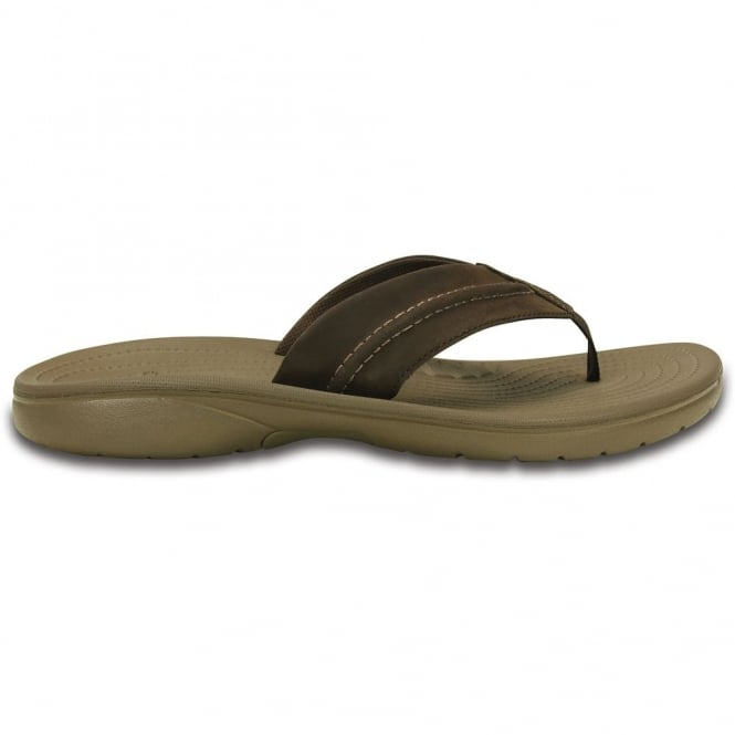 Crocs Yukon Mesa Flip Espresso/Walnut, a flip flop version of the best selling mens Yukon clog