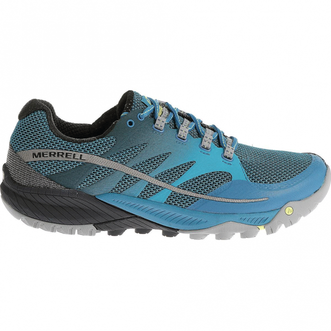 Merrell Mens All Out Charge Racer Blue/Navy, all round trail shoe
