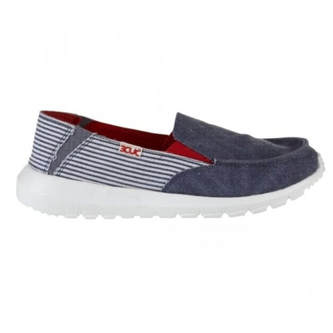 Dude AVA Marine Stripe, canvas slip on shoe