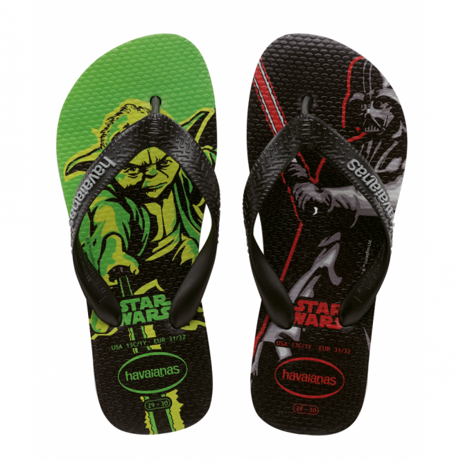Havaianas Kids Star Wars Grey/Black, feel the force with every step