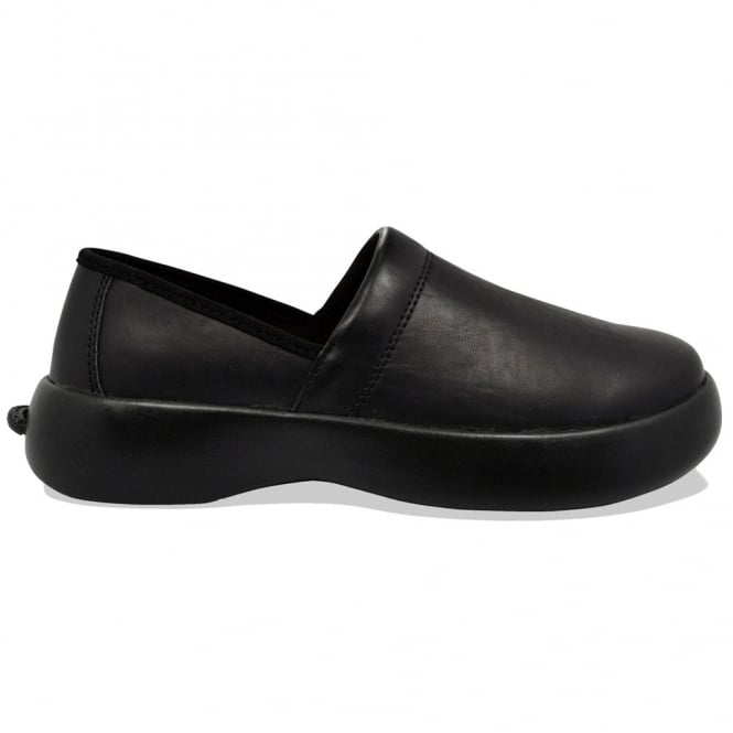 Soft Science Ladies Pro Slip-On PU Black, lightweight but supportive non slip work shoe