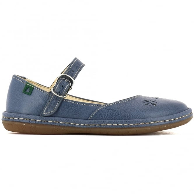 El Naturalista E824 Youth Nayade Flat Crepusculo, stylish leather flat