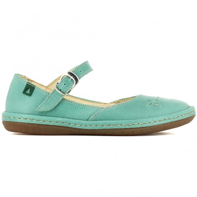 El Naturalista E824 Youth Nayade Flat Cascada, stylish leather flat