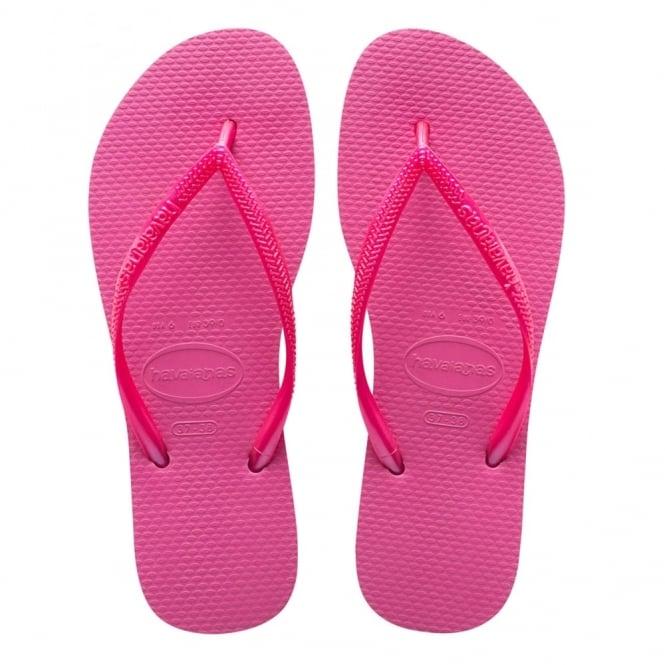 Havaianas Kids Slim Shocking Pink, Slim fitting flip flop