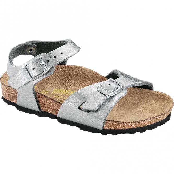 Birkenstock Youth Rio Silver Birko-Flor 731483, youth Birki sandal