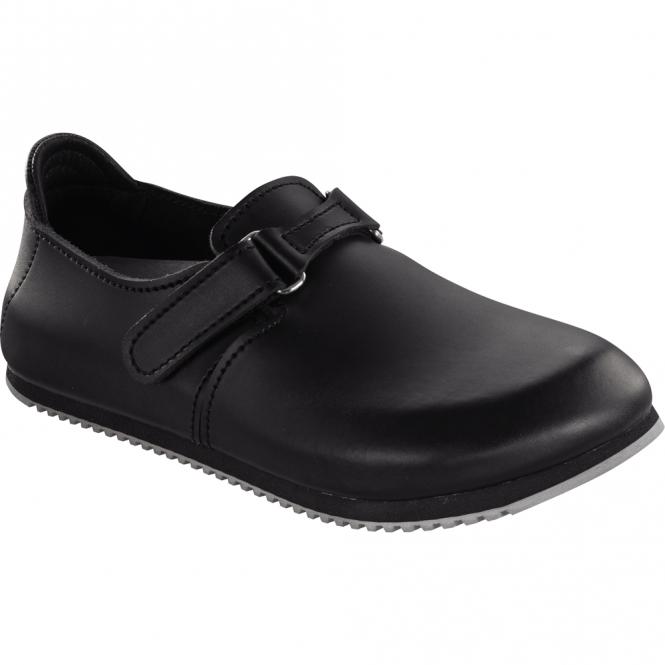 Birkenstock Linz Super-Grip Black 583184, closed toe design with super grip soles