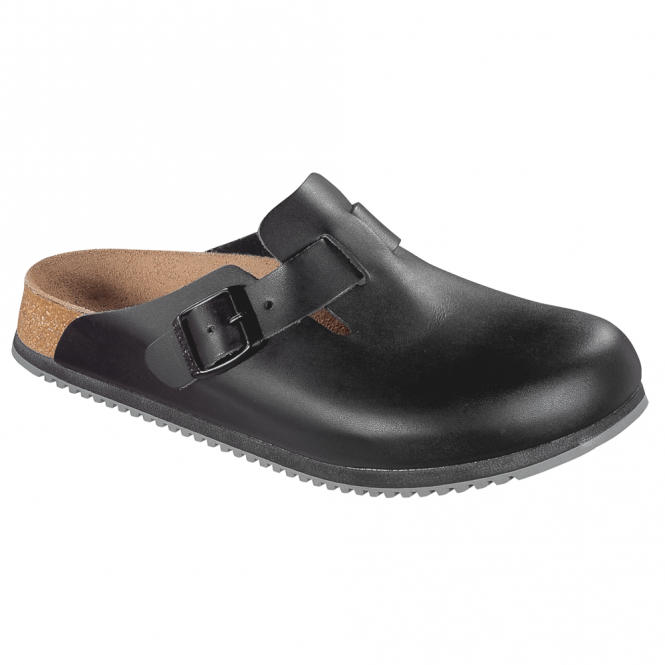 Birkenstock Boston Super Grip Black 060194, classic clog with super grip soles