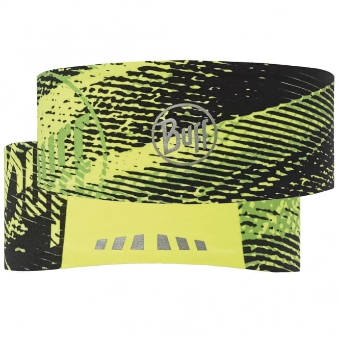 Buff Tech Headband Flash Logo Yellow Fluor, stretchy coolmax fabric for excellent breathability and humidity control