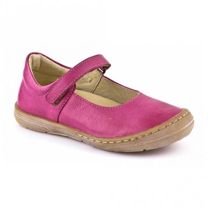 Froddo Ballerina Shoe Youth/Adult Fuchsia G3140042, soft leather girls flat shoe