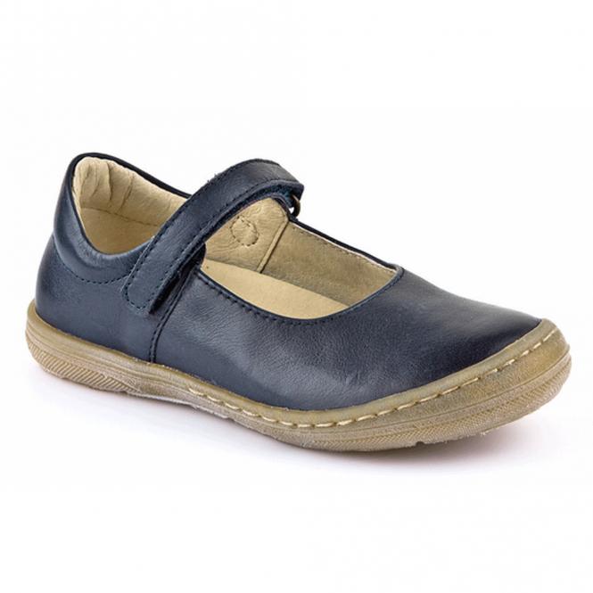 Froddo Ballerina Shoe Junior Dark Blue G3140042-2, soft leather girls flat shoe
