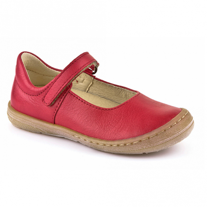 Froddo Ballerina Shoe Junior Red G3140042-3, soft leather girls flat shoe