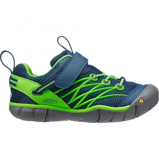 KEEN Kids Chandler CNX Poseiden/Jasmine Green, flexible bungee laced shoe