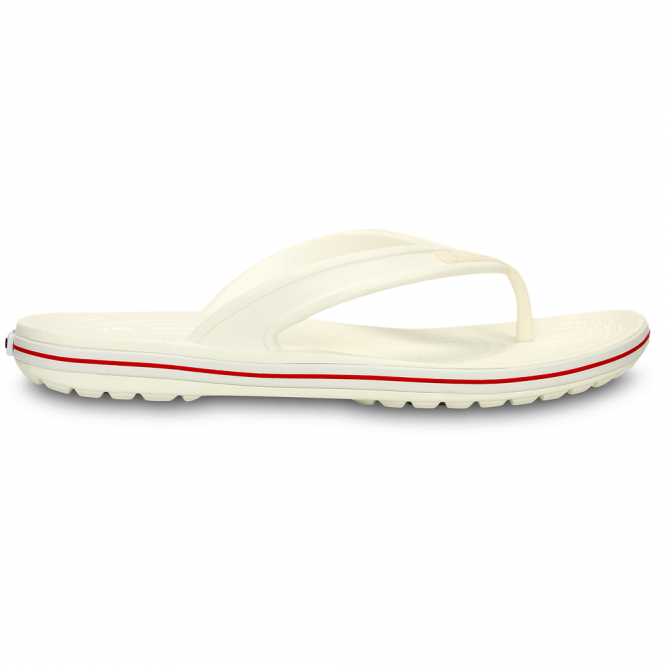Crocs Crocband LoPro Flip White/Red, comfort with streamlined profile