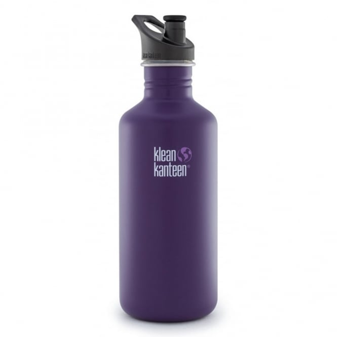 Klean Kanteen 1182ml Classic Sports Cap Berry Syrup, Water Bottle great for on the move