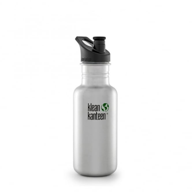Klean Kanteen 532ml Classic Sports Cap Brushed Stainless Steel, Water Bottle great for on the move