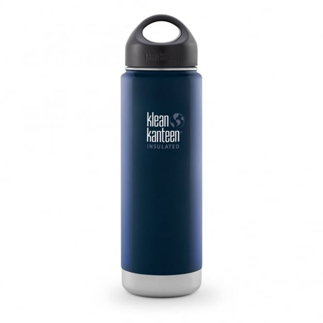 Klean Kanteen 592ml Wide Insulated Deep Sea, Double-Wall Vacuum Insulated Bottle & Mug