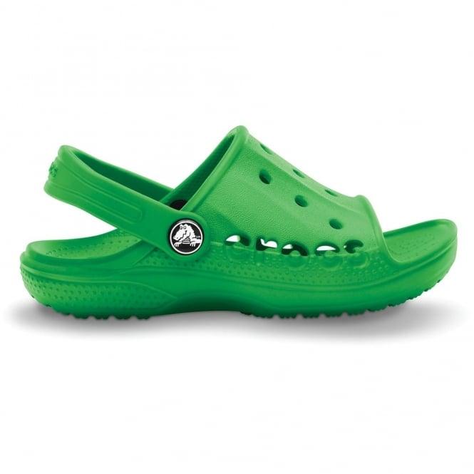 Kids Baya Slide Lime, the perfect croslite slip on sandal
