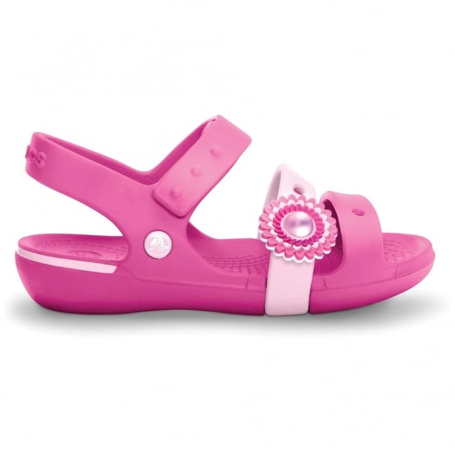 Crocs Girls Keeley Sandal Fuchia/Bubblegum, cute, colourful and comfortable