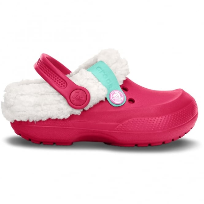 Crocs Kids Blitzen II Clog Raspberry/Oatmeal, easy to remove liner