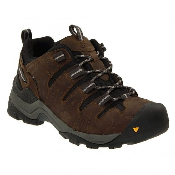 KEEN Mens Gypsum Dark Earth/Neutral Gray, Increased stability to go the miles