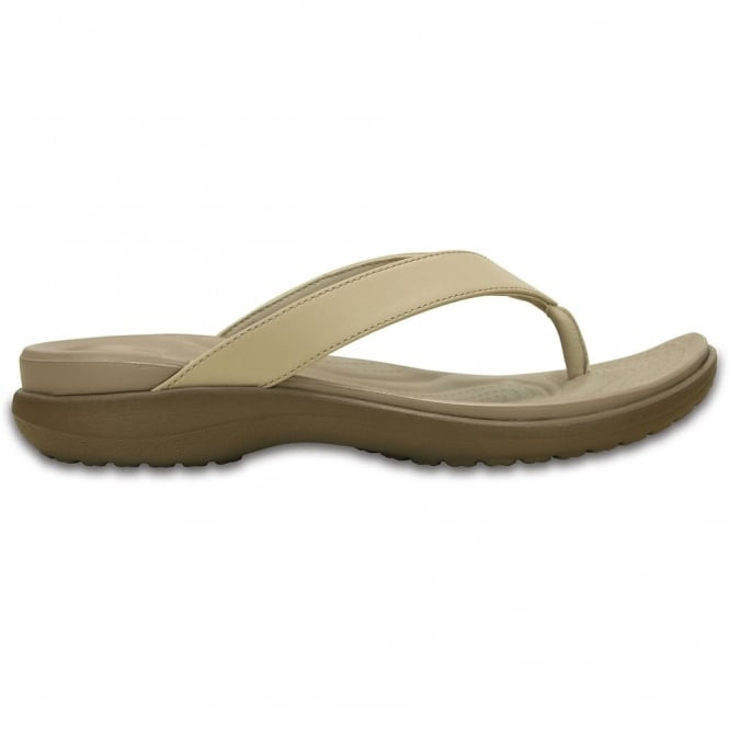 Crocs Capri V Flip Chai/Walnut, the classic flip but with new thinner straps
