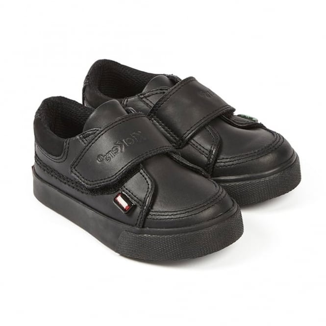Kickers Tovni Quad Infant Black, a sporty looking leather school shoe