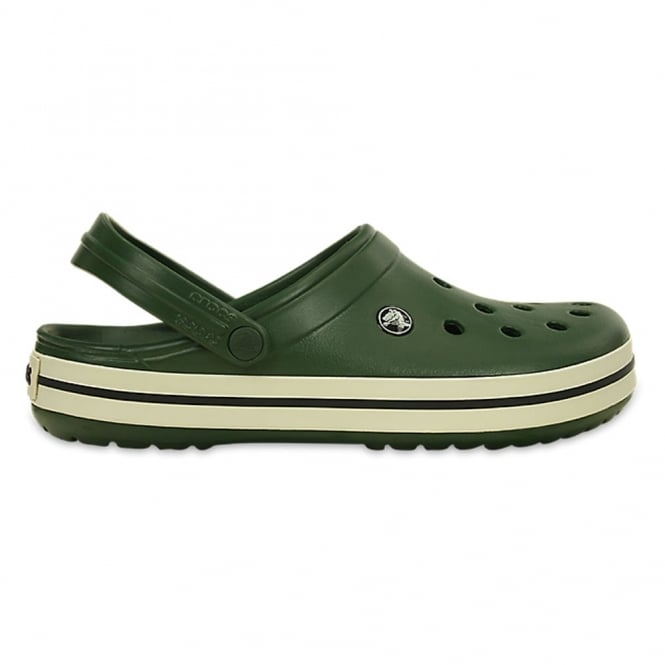 Crocs Crocband Shoe Forest Green/Stucco, All the comfort of a Classic but with a Retro look