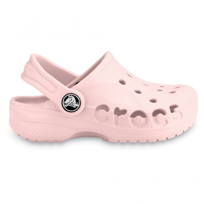 Crocs Kids Baya Shoe Cotton Candy, A twist on the Classic Crocs slip on shoe