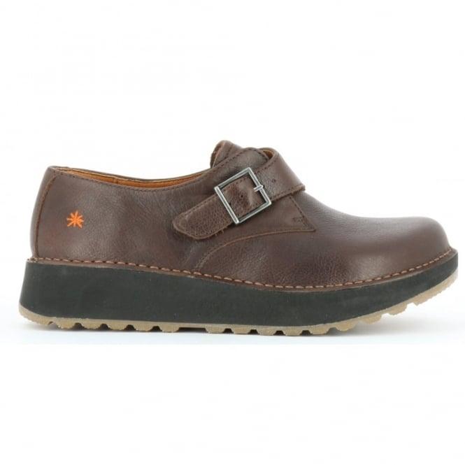The Art Company 1021 Heathrow Brown, Slight wedge look buckle up shoe