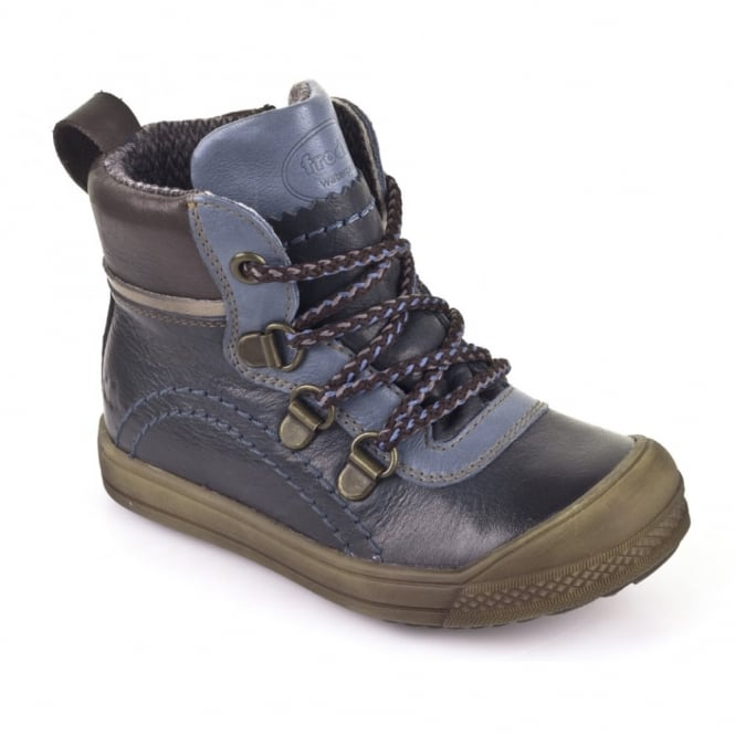 Froddo Lace Up Mini Boot WP G3110068 Blue, 100% Waterproof