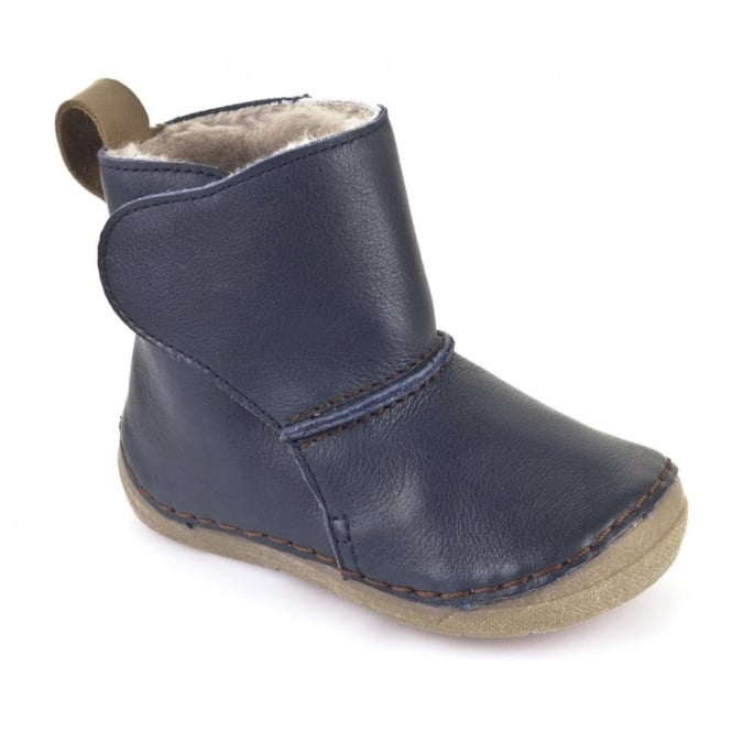 Froddo Minis Ankle Boot G2160025 Blue, wooly lined ankle boot