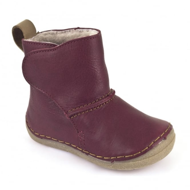 Froddo Minis Ankle Boot G2160025-5 Bordeaux, wooly lined ankle boot